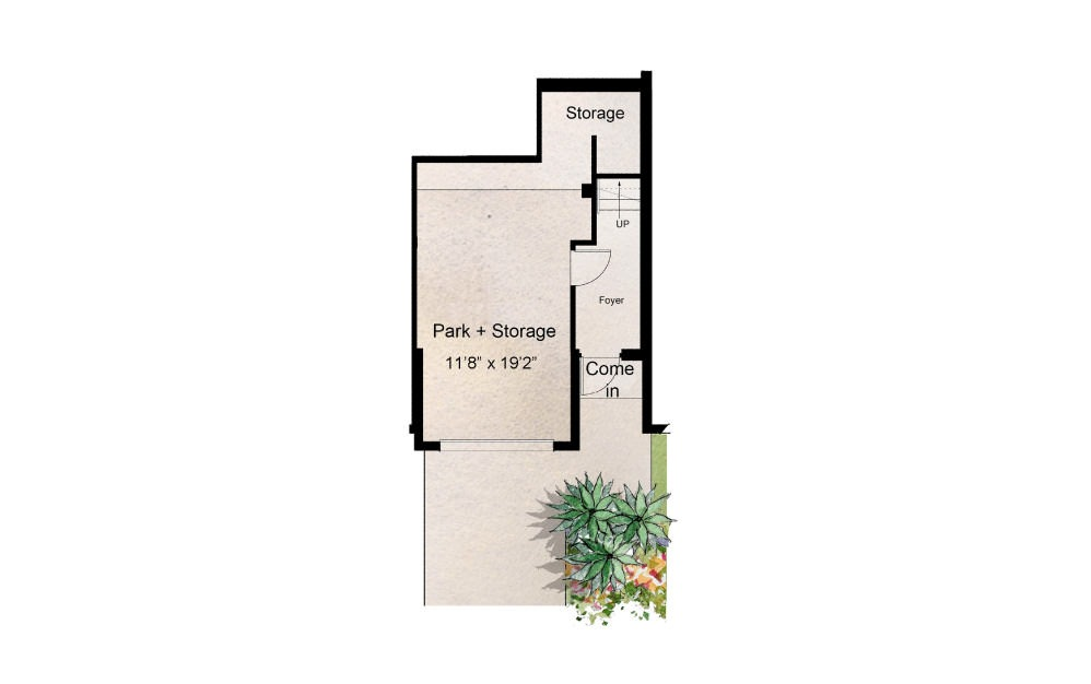 Magnolia - 3 bedroom floorplan layout with 2.5 baths and 1719 square feet. (Floor 1)